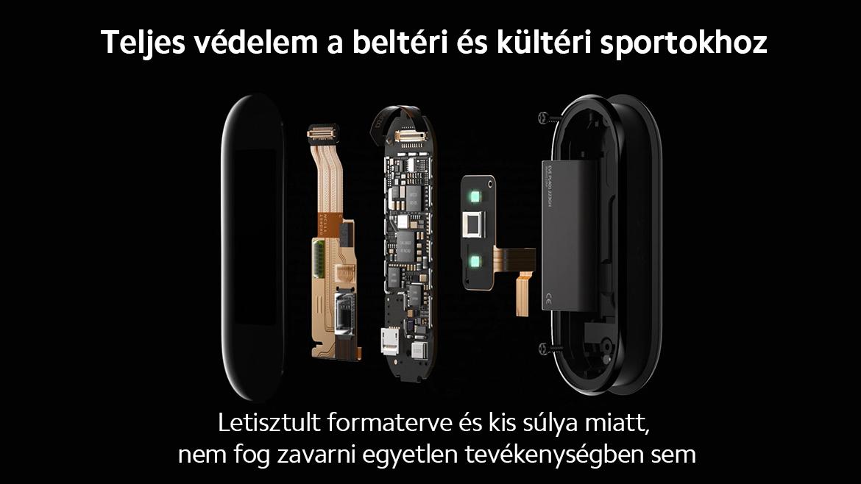 Xiaomi Mi Smart Band 5 pulzusmérő multisport vízálló..